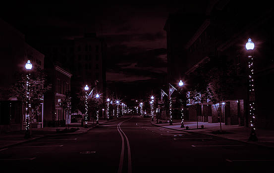 Glowing Streets Downtown by Ant Pruitt