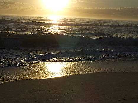 Cindy Treger - Glowing Sunrise - Outer Banks Rodanthe, NC Golden Sunrise B