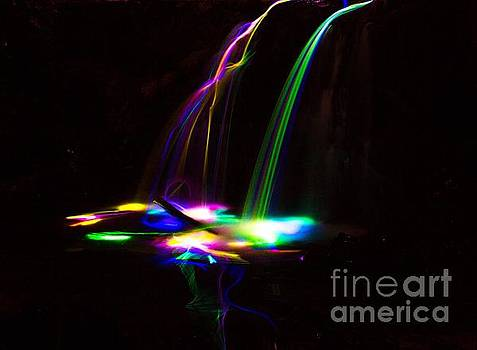 Glowing Waterfall 2 by Michael Cross