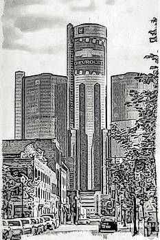 GM Building Detroit by Winnie Chrzanowski