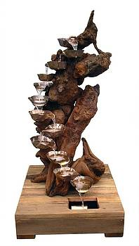 Gnarled Redwood Burl Floor Fountain by Daryl Stokes