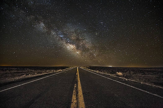 Go Beyond - Milky Way Above Highway in Arizona by Sean Ramsey