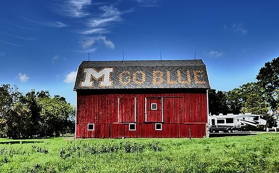 Go Blue Barn by Lawrence Birk