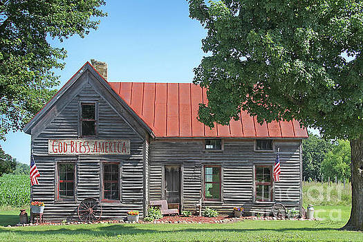 God Bless America farm House by Jean Plout