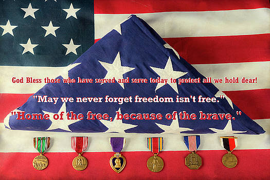 God Bless those who have served and serve today by James BO Insogna