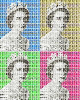 God Save The Queen x 4 by Gary Hogben