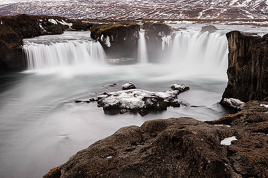 Godafoss Waterfall in winter Iceland by Pradeep Raja PRINTS