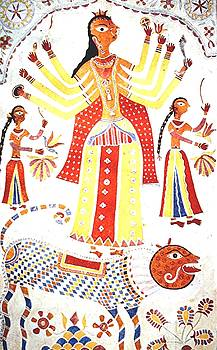 Goddess embroidery, India by Barron Holland