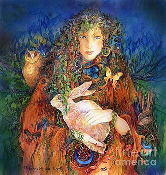 Goddess Ostara by Helena Nelson - Reed