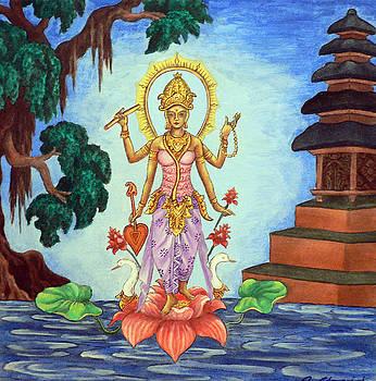 Goddess Saraswati by Alexandra Florschutz