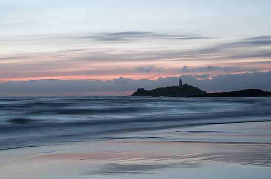 Godrevy Lighthouse from the beach by Pete Hemington