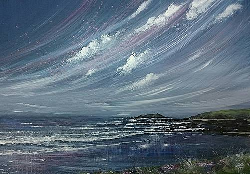 Godrevy Lighthouse  by Keran Sunaski Gilmore
