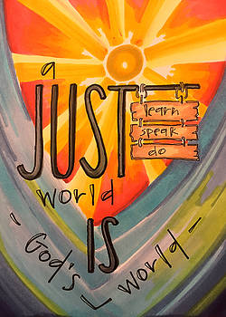 A Just World is God's World. by Vonda Drees