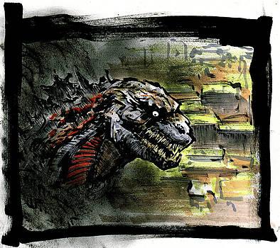 Godzilla  by Aug Kim