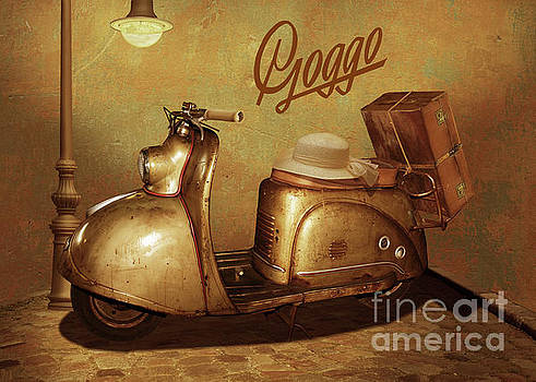 Goggo scooter from the 50s by Monika Juengling