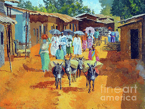 Going to market no3 by Yoseph Abate