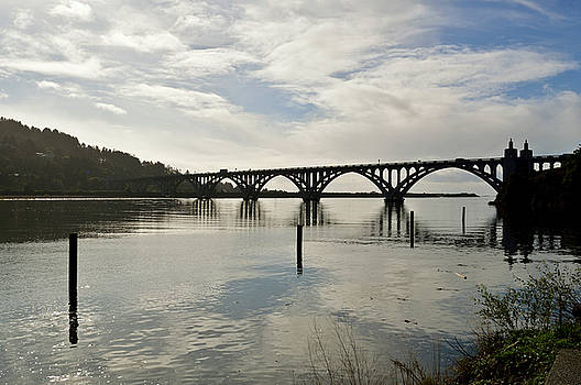 Gold Beach Bridge by David Crockett