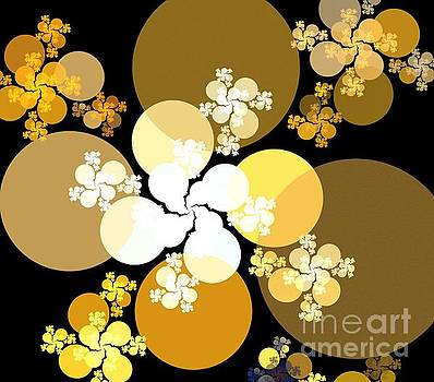 Gold Brown Spheres by Kim Sy Ok