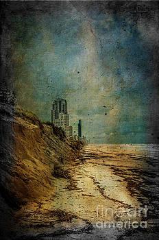 Gold Coast beach after storm by Barbara Dudzinska