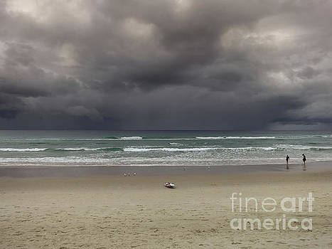 Gold Coast beach before storm by Barbara Dudzinska