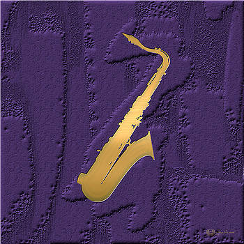 Serge Averbukh - Gold Embossed Saxophone on Purple