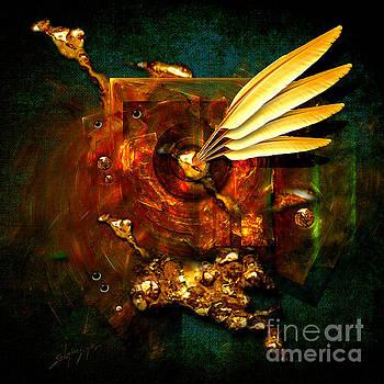 Gold Inkpot by Alexa Szlavics