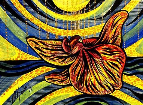 Gold Orchid by Inga Vereshchagina