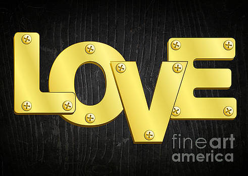 Gold Plated Love by JH Designs