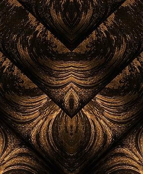 Golden abstract 3  by Lisa Stanley