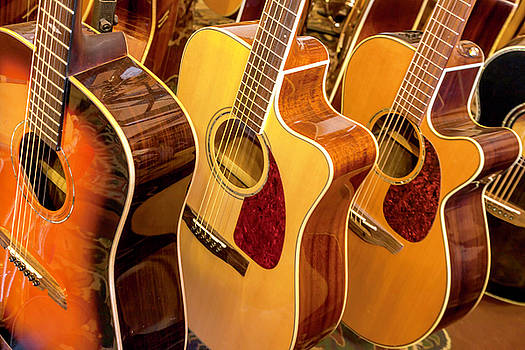 Golden Acoustic Guitars by Lynn Palmer