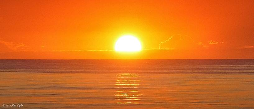 Golden Atlantic Sunrise Ripples by Matt Taylor
