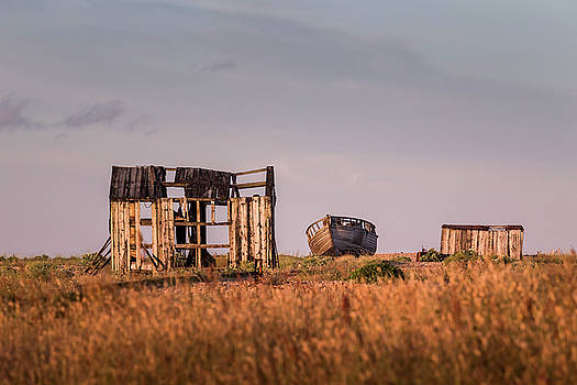 Golden Boat at Dungeness. by Kelvin Trundle