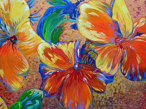 Golden Boiled Flowers by Gregory Merlin Brown