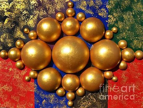 Golden bubbles by P Dwain Morris