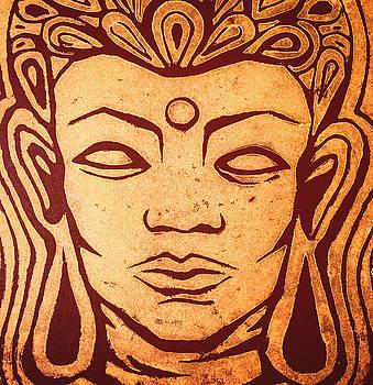 Golden Buddha by Renee Sarasvati