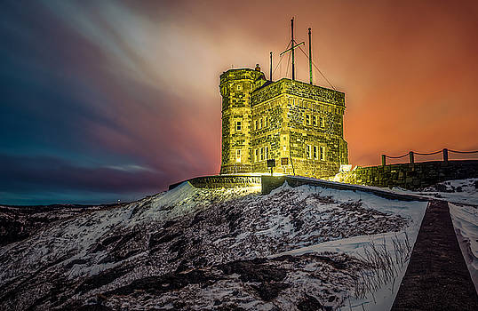 Golden Cabot Tower by Gord Follett
