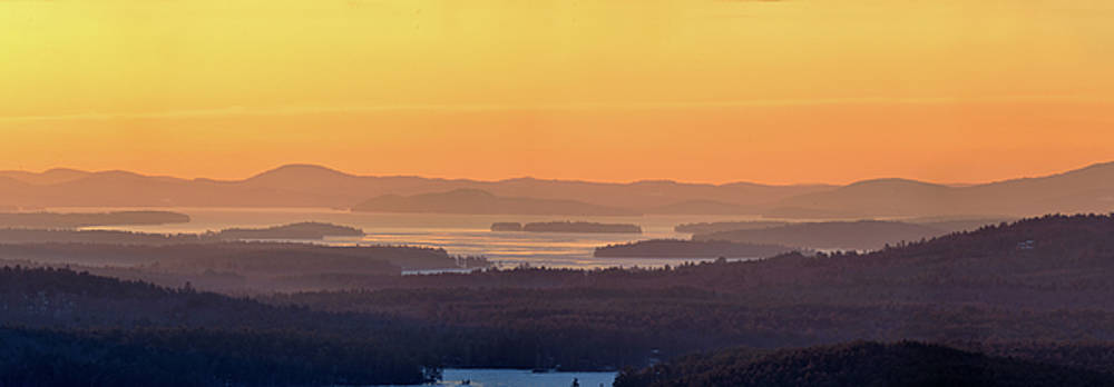 Golden Dawn over Squam and Winnipesaukee by Sebastien Coursol