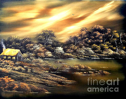Golden Daze.SOLD by Cynthia Adams