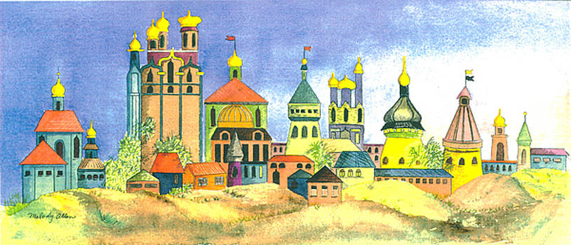 Golden Domes by Melody Allen