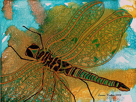 Golden Dragonfly by Susan Kubes