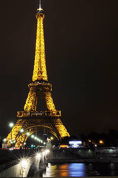 Golden Eiffel Tower by Marites Reales