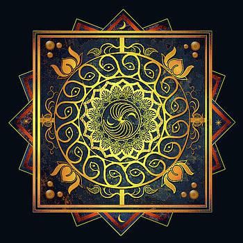 Golden Filigree Mandala by Deborah Smith
