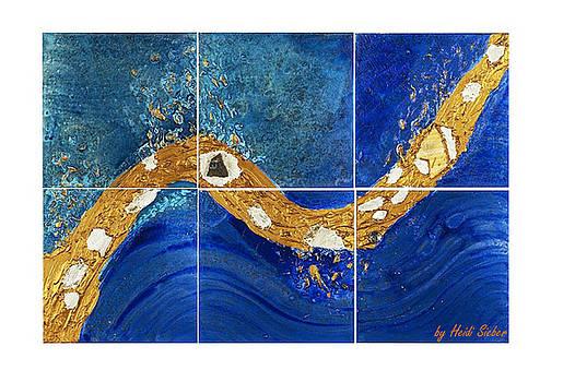 Heidi Sieber - Golden flow in the deep blue