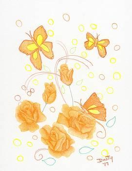 Golden Flutterbye by Dusty Reed