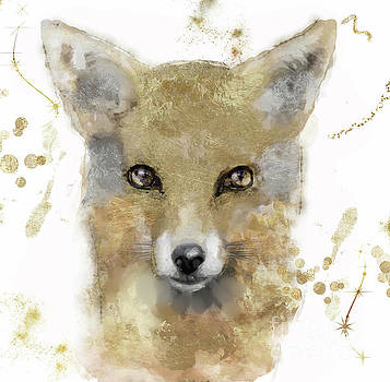 Golden Forest Fox by Mindy Sommers