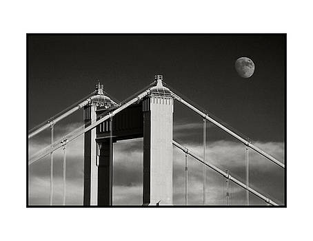 Golden Gate and Full Moon by Blake Smith