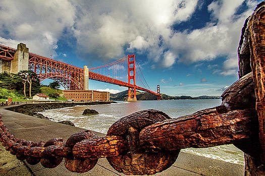 Golden Gate Bridge and Ft Point by Bill Gallagher