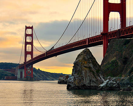 Golden Gate Bridge at Sunset by Pamela Rose Hawken