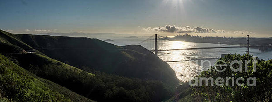Golden Gate Bridge From The Road Up the Mountain by PorqueNo Studios