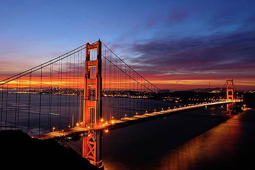 Golden Gate Bridge Sunrise by Daniel Danzig